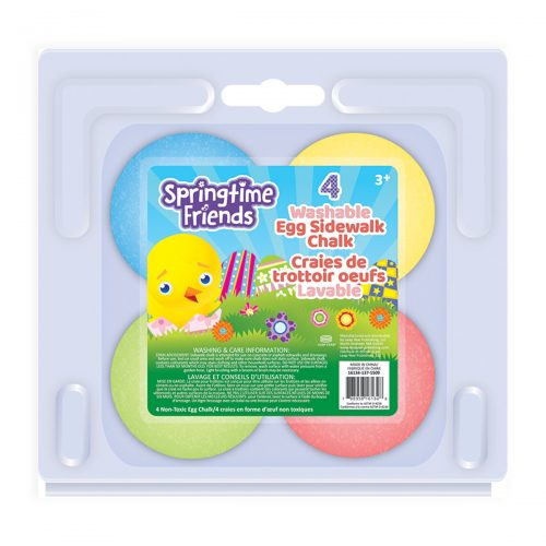 Springtime Friends 4-Count Egg Chalk