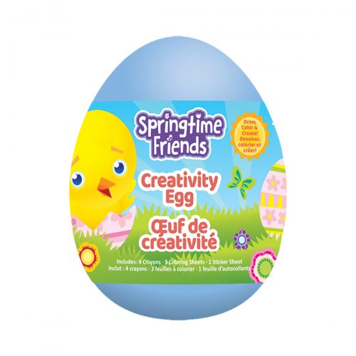 Springtime Friends Creativity Egg - Blue