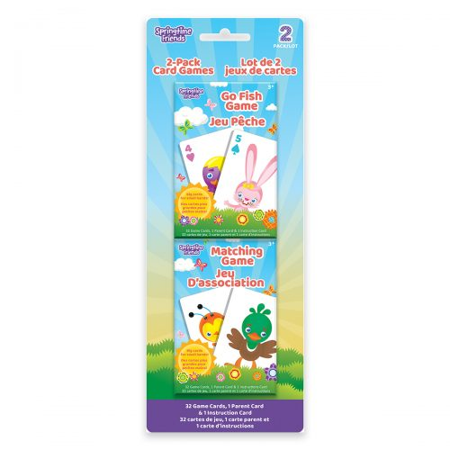 Springtime Friends 2-Pack Card Games